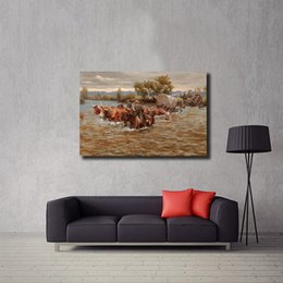 $enCountryForm.capitalKeyWord Australia - Andy Thomas Western Cowboy Scenery Wall Art Canvas Posters Prints Oil Painting Wall Pictures For Living Room Home Decor