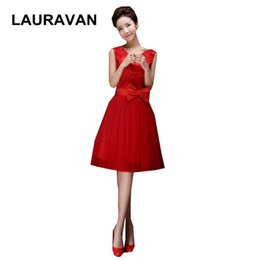 Party chiffon dresses for teens online shopping - red sweet sixteen short formal v neck corset bridesmaid party dresses ball gowns for teens special occasion free