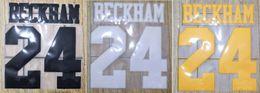 $enCountryForm.capitalKeyWord Australia - Retro BECKHAM #24 nameset name numbering soccer patch soccer badge