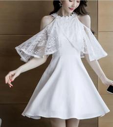 f69a9a419 2019 verano versión coreana de la nueva flor del gancho de encaje cuello  redondo sin tirantes sexy moda delgado temperamento vestido