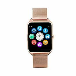 Bluetooth relógio inteligente Além disso Strap Metal Bluetooth Wrist Smartwatch Suporte Sim TF Android IOS relógio inteligente em Promoção