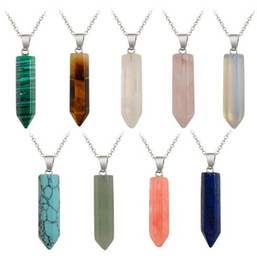 Resin Rose jewelRy online shopping - Pretty Necklace Jewelry Cheap Healing Crystal Rose Quartz Chakra Healing Point Natural Stone Pendant Necklace GB1535