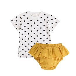 12 Year Child Models NZ - Children's clothing wave point ins explosion models 0-3 years old baby child suit two pieces of children's clothes wholesale summer