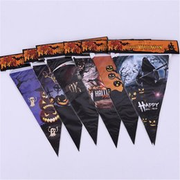 Toy Ghosts Australia - Halloween Items Decoration Props Skull Banner Pumpkin Ghost Head Flag Carnival Oranment Funny Toys Party Banner Novelty Accessory