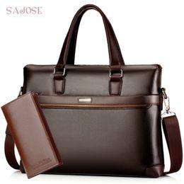 $enCountryForm.capitalKeyWord NZ - Man's Leather Bag Business Men Bags Laptop Tote Briefcases Male Crossbody Bags Shoulder Handbag High Quality Men's Messenger Bag Y19061803