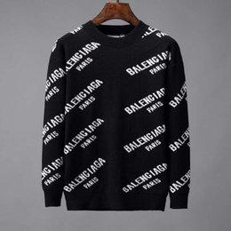 Ingrosso 2019 nuovo pullover maglione da uomo di alta qualità maglione di marca maglione sottile pullover da uomo O-collare di grandi dimensioni M-3XL