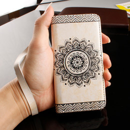 Iphone Plus Case Floral NZ - Mytoto Wallet Leather Case For iPhone 8 7 6 6s Plus SE 5 5s Cover Retro Paisley Flower Mandala Henna Floral Flip Card Slot Holder Stand