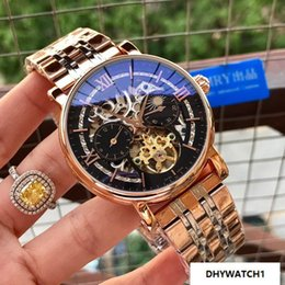 $enCountryForm.capitalKeyWord Australia - 2019 skeleton Rose gold 42MM CASE automatic Mechanical men watch sport wholesale luxury fashion bnd new Stainless steel mens watches
