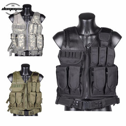 paintball army Australia - Tactical Equipment Training Combat Vest Army Paintball Hunting Armor Molle Vests with Gun Holster