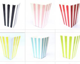 $enCountryForm.capitalKeyWord Australia - Striped Favor Candy Treat Popcorn Boxes for Wedding Party Supply Baby Shower Decoration Christmas Birthday Party Gifts