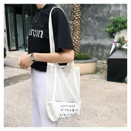 $enCountryForm.capitalKeyWord NZ - Women Beach Single Shoulder Canvas Bag Korean Fine Mesh Japanese Embroidery Hollowed Out Environmental Protection Shopping Bag
