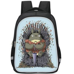 umbrella packing UK - Umbrella backpack Tonari no Totoro daypack Iron Throne cosplay schoolbag Photo print rucksack Sport school bag Outdoor day pack