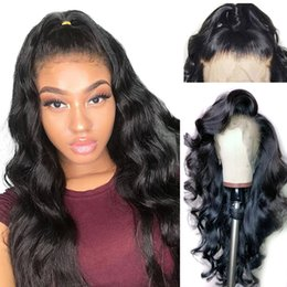 peruvian body wave full lace wig NZ - Full Lace Wigs Body Wave Human Hair Brazilian Peruvian Malaysian Indian Body Wave Lace Front Human Hair Wigs With Baby Hair