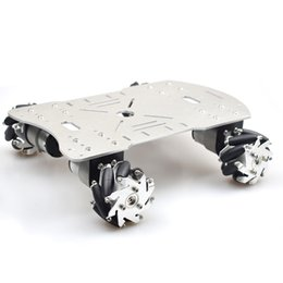 Cars Projects Australia - Moebius Metal Mecanum Wheel Robot Car Kit with 4pcs 12V DC Motor, 4WD Robot Platform Chassis for Arduino   Raspberry Pie   STM32 DIY Project