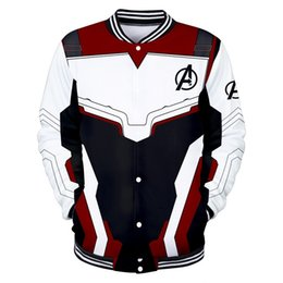 Organic Cotton Sportswear Australia - Spring Leisure Baseball Jackets The Avengers 4 War clothes 3D print Baseball Sweater cotton material Keep warm outdoors Leniency Sportswear