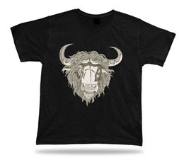 Cotton Stylish Top Designs NZ - Angry Bison Animal awesome cool modern stylish design tshirt special gift tee 2018 Hot Summer High Quality Tops Tees Men 100% Cotton