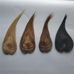 送料無料6cm x 9 cmストックハイライトカラーシルクトップ人間の髪のトッパーのための髪の髪の髪のフライター