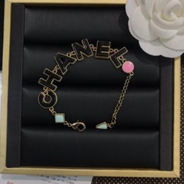 Discount decorative easter plates - Simple clothes decorative accessories jewelry elegant style wild letter Pendant Chain bracelet gift women bracelets jewe