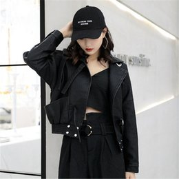 Women S Fashion Motorcycle Jackets Australia - Fashion PU Leather Women Short section 2019 Spring Autumn New Korean Leather Jacket Loose Coats motorcycle Female tops V481