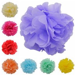 Chinese  tissue pom poms 5Pcs Tissue Pom Poms Paper Flowers Ball pompom Garland Hanging Flower Baby Shower Wedding Birthday Party Decoration 75Z manufacturers
