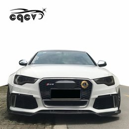 Lips Spoiler Australia - Beautiful carbon fiber CQCV style body kit for Audi A6 ABT front lip rear lip side skirts wide fender spoiler auto tuning