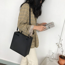japan hand bags Australia - 2019 Korean Temperament Retro Square Bag Hand Bag Big Female Contracted Large Capacity One Shoulder Cross Son Mother Bag Wholesale B101866Y