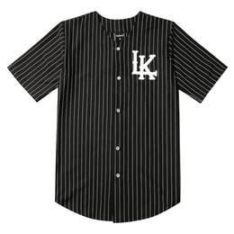 3caa47a4 2019 Hot Selled Men T-shirts Fashion Streetwear Hip Hop Baseball Jersey  Striped Shirt Men Clothing Tyga Last Kings Clothes Black
