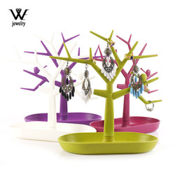 Bird Bracelets online shopping - WE New Style Little Bird Earrings Necklace Ring Pendant Bracelet Jewelry Display Stand Tray Tree Storage Racks Organizer Holder
