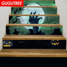$enCountryForm.capitalKeyWord NZ - Decorate Home 3D Hallowmas cartoon art wall Stair sticker decoration Decals mural painting Removable Decor Wallpaper G-686