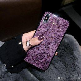 glitter case silicone NZ - 2019 top Luxury Glitter Gold Foil Case For iPhone X XS Max XR Marble Phone Case For iPhone 7 8 6 6s Plus Soft Silicone Cover Coque Fundas