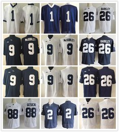f33d6b715 PSU Penn State Nittany Lions College 26 Saquon Barkley 9 Trace McSorley 88  Mike Gesicki 2 Marcus Allen 1 Parsons Paterno Football Jerseys