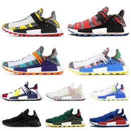 0d494616a Cheap Human Race running running shoes for men women pharrell williams NERD BLACK  white black blue green cream mens trainer sports sneakers
