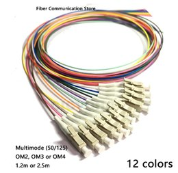 optic fiber cable connector NZ - FTTH CATV 12 Colors LC PC-MM(50 125)-OM2, OM3, OM4-0.9mm Cable   Optical Fiber Pigtail