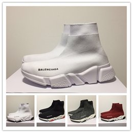 Quality college backpacks online shopping - 2019 New Sneakers Balenciaga Trainers Knit Sock Shoe Luxury Designer Mens Womens Sneakers High Top Quality Casual Shoes With Box
