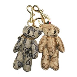 Keychains bears online shopping - Fashion Classic Key Link Car Key Link Bear Bag Keychains