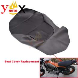$enCountryForm.capitalKeyWord Australia - Black PU Leather Off Road Dirt Bike Motorcycle Seat Cover Cushion Waterproof For Yamaha Tricker XG250 XG 250