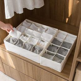 $enCountryForm.capitalKeyWord NZ - 1pc Extra Thickened Underwear Socks Bra Storage Box Folding Wardrobe Closet Organizer Fabric Drawer Divider 2018 New