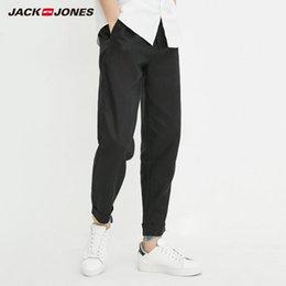 Drawstring C Australia - JackJones Men's Spring & Summer Light-weight Linen Drawstring Casual Sweatpants C|218214522