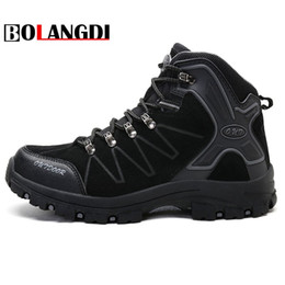 3147dcd489 blue mountain shoes 2019 - Bolangdi New High Cut Men Winter Plush keep warm  Boots Men s