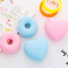heart cutter wholesale 2019 - 1 Pcs Kawaii Candy Color Masking Tape Cutter Design Of Love Heart Donut Shape Washi Tape Cutter Dispenser Stationery Sup