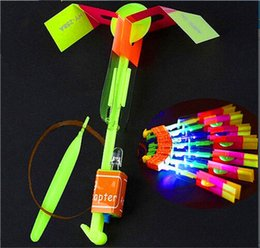$enCountryForm.capitalKeyWord Australia - LED Amazing Arrow Flying Helicopter Umbrella parachute Kids Toys Space UFO LED Light LED Arrow Helicopter Christmas Halloween Flash Toys