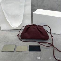 $enCountryForm.capitalKeyWord Australia - Leather Handbags classic Sheepskin single shoulder bag hand-knitted lady bag small cloud bags high quality real Leather Women Free shipping