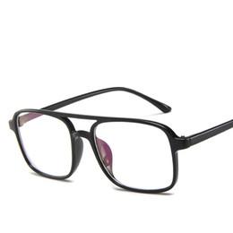 Discount korean mirror box - New Korean flat mirror fashion double beam glasses frame frame can match myopia glasses retro box