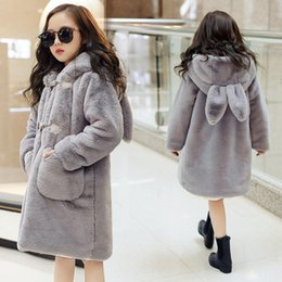 $enCountryForm.capitalKeyWord Australia - Teenage Winter Cartoon Thick Parkas Children Outerwear Kids Girls Faux Fur Fleece Ear Hooded Coats Jackets girls winter coat