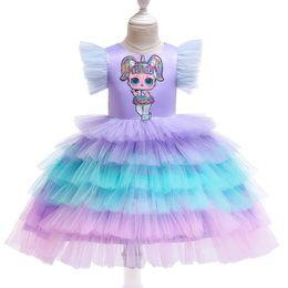 $enCountryForm.capitalKeyWord Australia - Rainbow flower girl dresses for wedding cute tutu kids dresses birthday party girls dresses kids designer clothes girls princess dress A6370