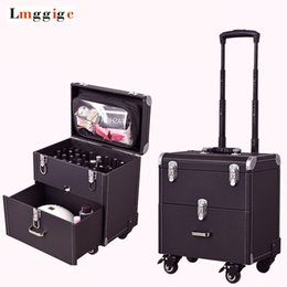 $enCountryForm.capitalKeyWord NZ - Cosmetic case with wheels,Rolling cosmetic bag,Vintage makeup tools Beauty box,High capacity make-up trolley case with drawer