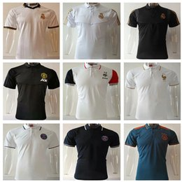 Polo shirt suits online shopping - 19 Frances Soccer Polo shirt Real madrid Short Sleeve polo shirt psg MBAPPE pogba maillot de foot football training suit