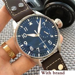 Chinese  Top Quality Luxury IW500901 Wristwatch Big Pilot Midnight Blue Black Dial Automatic 46MM Men Mens Watch Watches manufacturers
