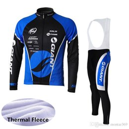 jersey bib yellow 2019 - GIANT Men team Cycling Winter Thermal Fleece long Sleeves jersey bib pants sets 3D gel pad Breathable Quick dry 1614L ch