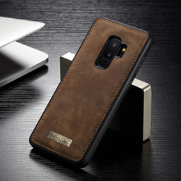 Vintage Tpu Case Australia - Original Magnetic Vintage Leather + Soft Tpu Silicone Back Cover Case For Samsung Galaxy S9  S9 Plus Phone Cases Housing